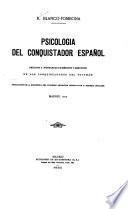 Psicología del conquistador español