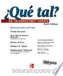 Que tal? an Introductory Course