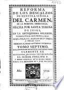 Reforma de los descalzos de nuestra señora del Carmen, de la primitiva observancia