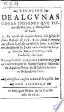 Relacion de algunas cosas insignes que tiene el reyno y obispado de Jaen
