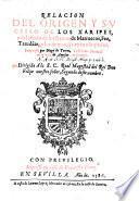 Relacion del origen y sucesso de los Xarisesy del estado de los Reinos de Marruecos, Fez, Tarudante y los de mas que tienen usurpados