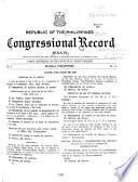Republic of the Philippines Congressional Record