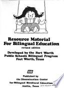 Resource material for bilingual education