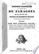 Resumen histórico de la inmortal defensa de Zaragoza en el año de 1808
