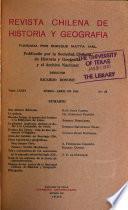 Revista chilena de historia y geografía