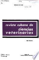 Revista cubana de ciencias veterinarias