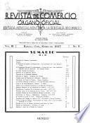 Revista de Comercio; Órgano Oficial Editado por el Ministerio de Comercio