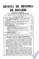 Revista de historia de Rosario