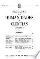 Revista de la Facultad de Humanidades y Ciencias