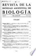 Revista de la Sociedad Argentina de biología y su filial la Sociedad de biología del litoral