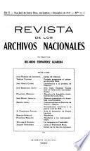Revista de los Archivos Nacionales