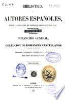 Romancero general ó colección de romances castellanos anteriores al siglo XVIII: (XII, 736 p.)