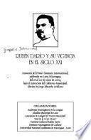 Rubén Darío y su vigencia en el siglo XXI