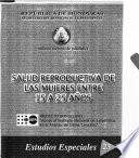 Salud reproductiva de las mujeres entre 15 y 25 años
