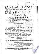 San Laureano obispo metropolitano de Sevilla y martyr