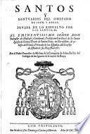 Santos y Santuarios del Obispado de Jaen, y Baeza
