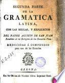 Segunda parte de la gramática latina