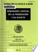 Semanario judicial de la Federación y su gaceta