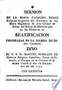 Sermon de la beata Catalina Tomas