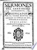 SERMONES DEL SANTISSIMO SACRAMENTO