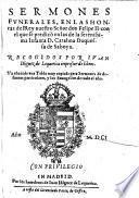 Sermones funerales, en las honras del Rey nuestro Felipe II. (etc.) recogidos por Juan-Iniguez de Lequerica (etc.)