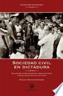 Sociedad civil en dictadura