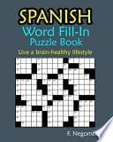 SPANISH Word Fill-In Puzzle Book