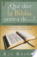 ?Que Dice la Biblia Acerca De... ?