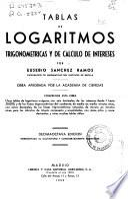 Tablas de logaritmos trigonométricas y de cálculo de intereses