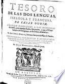 Tesoro de las dos lenguas española y francesa