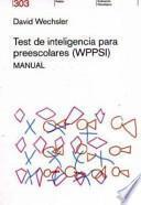 Test de inteligencia para preescolares
