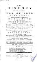The History of the Renowned Don Quixote de la Mancha,2
