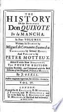 The History of the Renowned Don Quixote de la Mancha,4