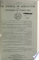 The Journal of Agriculture of the University of Puerto Rico