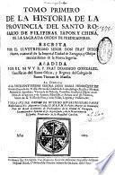 Tomo primero de la Historia de la provincia del Santo Rosario de Filipinas, Iapon y China de la ... Orden de Predicadores