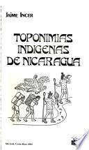 Toponimias indígenas de Nicaragua