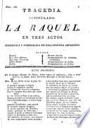 Tragedia intitulada La Raquel