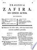 Tragedia Zafira en cinco actos [and in verse].