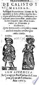 Tragicomedia de Calisto y Melibea ... nueuamente corr. y emend