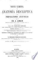Tratádo elemental, de anatomía descriptiva y de preparaciones anatómicas por el dr. A. Jamain ...