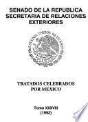 Tratados ratificados y convenios ejecutivos celebrados por México: 1992