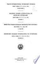 Twelfth International Veterinary Congress, New York, N.Y., U.S.A., 1934