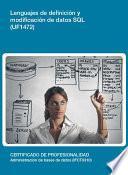 UF1472 - Lenguajes de definición y modificación de datos SQL