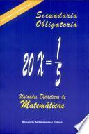 Unidades didácticas de matemáticas