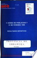 V Censo de población y IV de vivienda, 1990