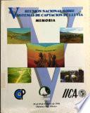 V Reunión nacional sobre sistemas de captación de lluvia: memoria