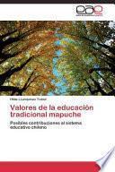Valores de La Educacion Tradicional Mapuche