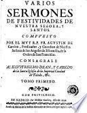 Varios sermones de festiuidades de Nuestra Señora y santos