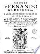 Versos de Fernando de Herrera