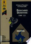 VI censo de población y V de vivienda, 2001: Provincia del Guayas